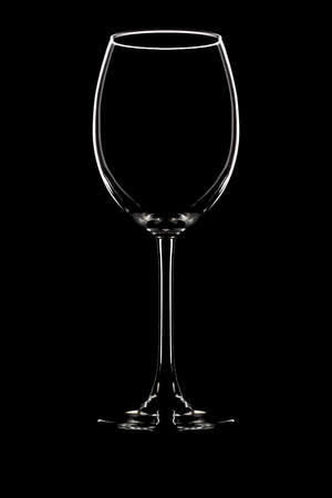 unlabeled: Wine glass on black background beverage glassware Stock Photo
