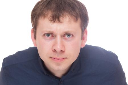 Man interesting isolated on white background Stock Photo