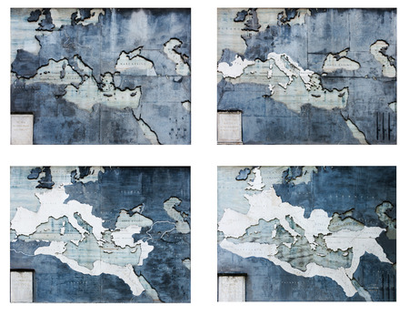 trajan: Ancient Roma Empire territory maps isolated on white