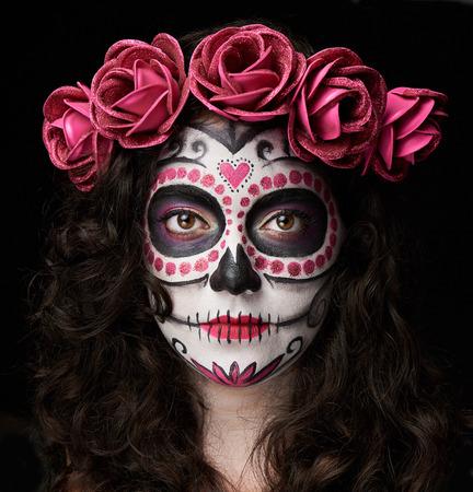 catrina skull portrait isolated on black background stock photo 63868863