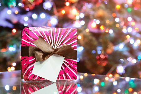 Gift colrful box for holiday celebrations new year