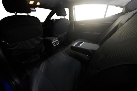 legroom: Back clear seat of sedan modern car  with isolated windows