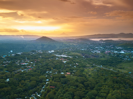 Green ecoloical city Managua in Cental America Nicaragua aerial view