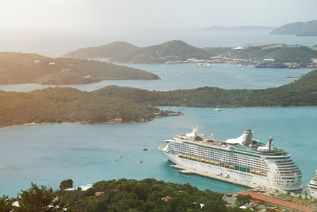 charlotte: Cruise to Virgin st Thomas island. Tropical resrt in caribbean Stock Photo