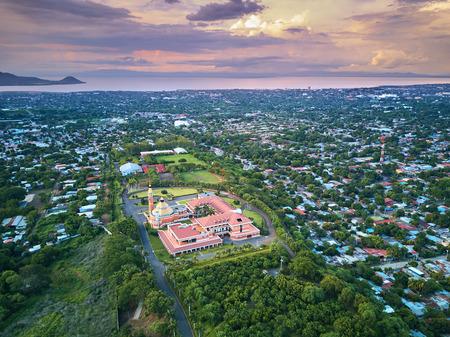 空中写真ニカラグア マナグア市の風景