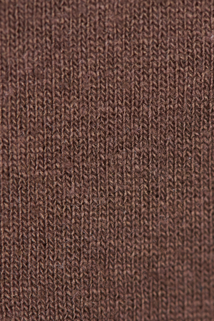 Brown textile pattern surface close-up. Brown fabic material texture Stock Photo
