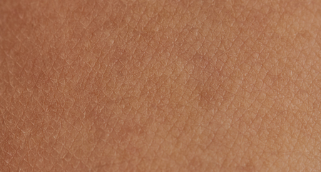 Cells on human skin close-up view. Human skin background Stock Photo
