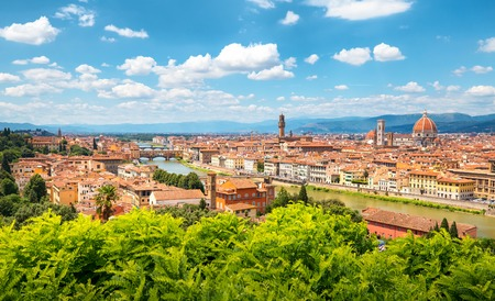 Florence skyline on a sunny day. Landmark of Italy. Stock Photo