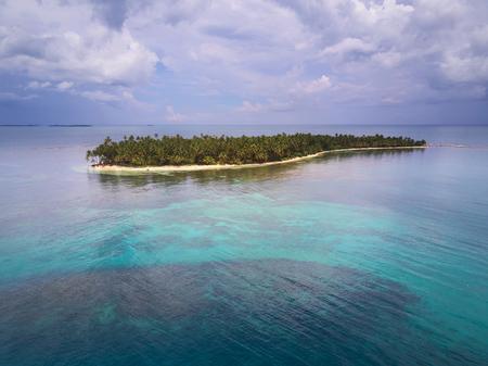 Tropical virgin island  aerial drone view