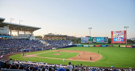 Managua, Nicaragua- march 18, 2019: Baseball game between  Nicaragua and Puerto Rico in  American League