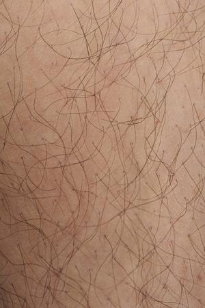Hairy white skin closeup texture. Detailed human white skin Stock Photo