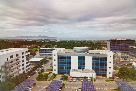 Urban district in Managua Nicaragua aerial drone view 写真素材
