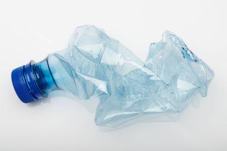 Used plastic bottle isolated on white studio background Standard-Bild