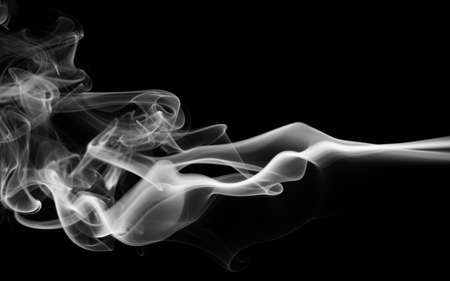 Curly smoke abstract background black and white color