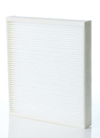 Clean hepa car filter isolated on studio background