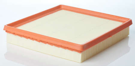 Clean air filter for car isolated on studio background Standard-Bild