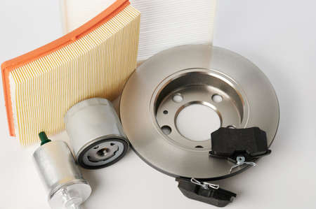 Different car part for maintenance  isolated on studio background Standard-Bild