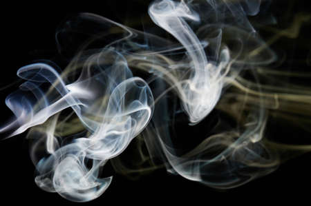 White abstract colorful smoke background with smooth shape in black backdrop