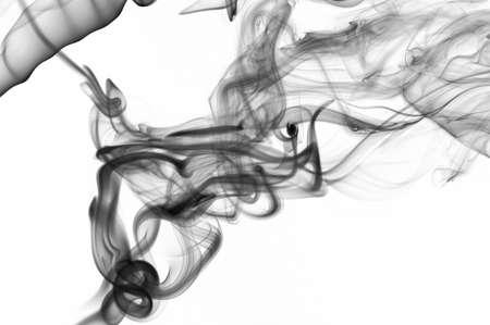 Abstract silky clean smoke background on white backdrop. Flowing monochrome wallpaper Standard-Bild