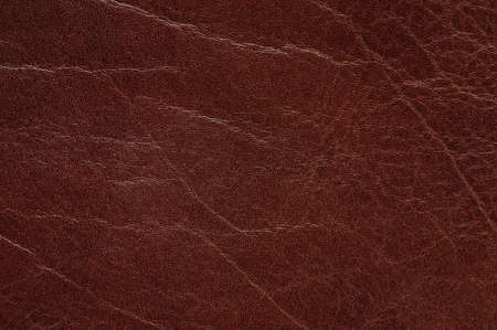 Texture of brown leather background macro close up view