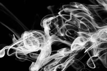 Abstract black and white colorful smoke with smooth shape Standard-Bild