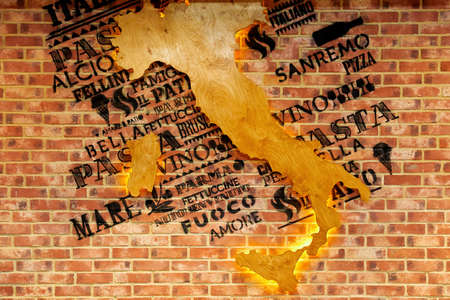 country Italy with cities