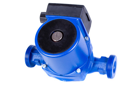 Circulation pump for water on a white background