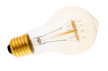 Edison electric lamp on a white background Stock Photo