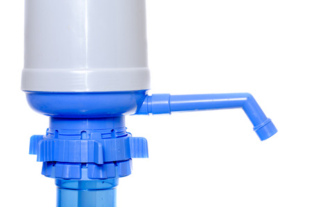 hand pump for water on a plastic bottles