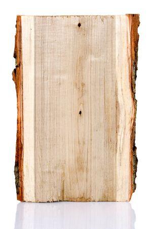 Poplar tree log on a white background