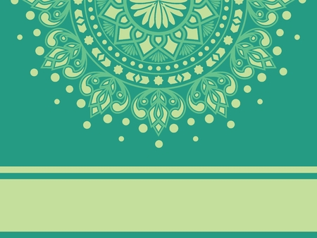 Ethnic Mandala ornament. Henna tattoo. Can be used for textile, greeting card, phone card print.