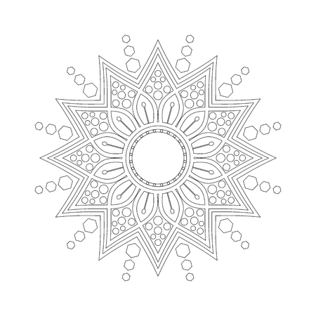 Flower Mandala. Round Circular ornament pattern vector. vintage decorative element. Islam, Arabic, Indian, ottoman motifs. Vectores