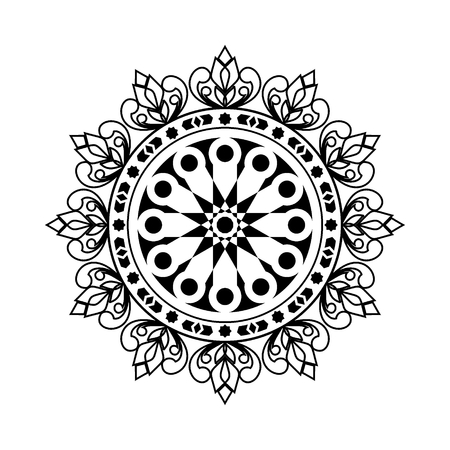 Mandala. Round Circular ornament pattern vector. vintage decorative element. Islam, Arabic, Indian, ottoman motifs.