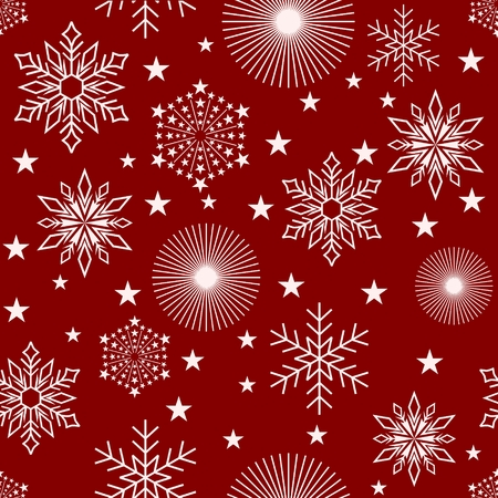 Seamless Pattern Christmas and happy new year greeting illustration background. You can use it for business cards, letterheads, posters, banners, etc. Illustration