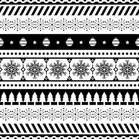 Merry Christmas Seamless Pattern Vector. Xmas Aztec shape and geometry design tribal. Aztec, Inca, Egypt, Indian, Scandinavian, Gypsy, Mexican, folk tradition ornament. 3