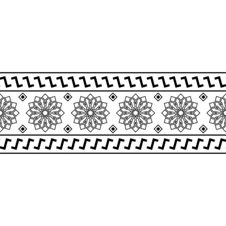 Stripe Seamless Etnic Pattern in black and white color. BW Tribal Aztec Pattern Etnic Pattern in black and white color. BW Tribal Aztec Pattern Ilustrace