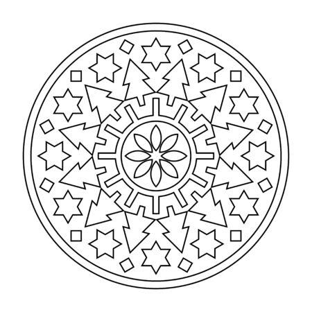 Christmas Ornament Icon illustration vector. Circulat pattern for Mandala 2018