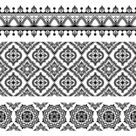 Ikat geometric folklore ornament. Seamless striped pattern Tribal ethnic vector texture in Aztec style. Indian Figure tribal embroidery.