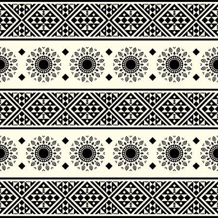 Stripe ethnic seamless pattern. Aztec, peruvian, mexican design Illustration vector. eps 10