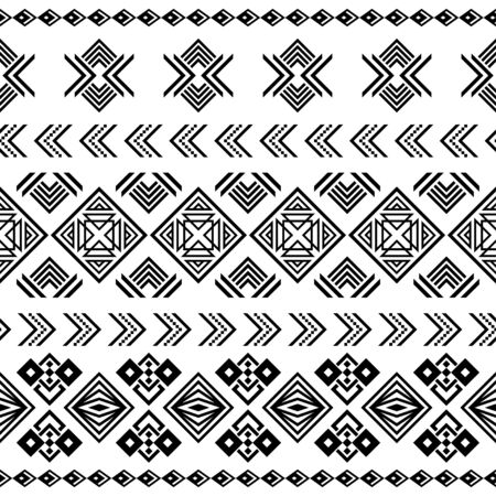 Ikat geometric ethnic tribal pattern. Tribal illustration design vector. Aztec, inca background ethnic seamless pattern Ilustrace