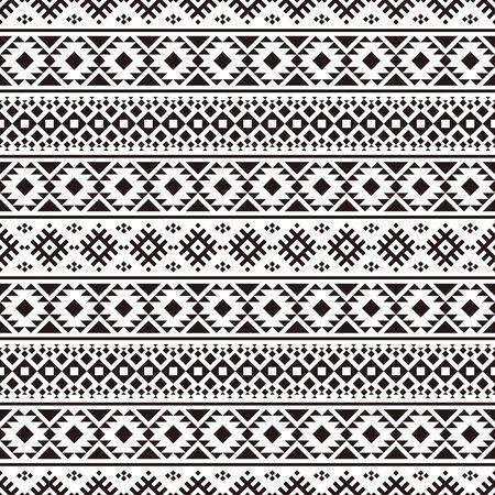 Ikat Ethnic Aztec Pattern Design. Illustration of Seamless Ethnic Pattern Vector