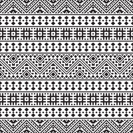 Tribal ethnic pattern in black and white color. Design for background or frame