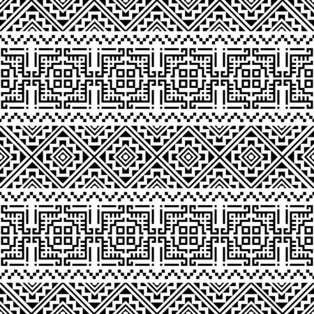 Aztec Seamless pattern etnico disegno vettoriale sfondo