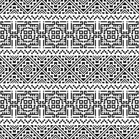Fond de vecteur de conception de motif ethnique sans couture aztèque