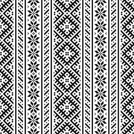 Seamless ethnic pattern background design vector