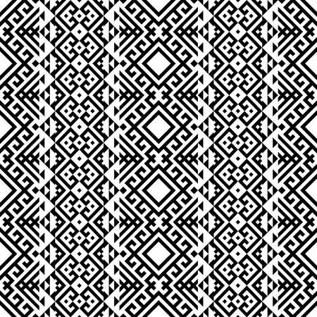 traditional aztec seamless ethnic pattern design vector