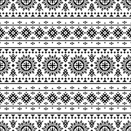 Traditional Aztec seamless pattern design texture background
