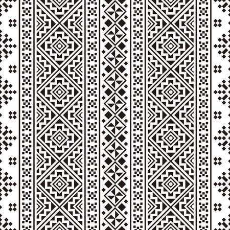 Traditional seamless ethnic tribal pattern texture background vector