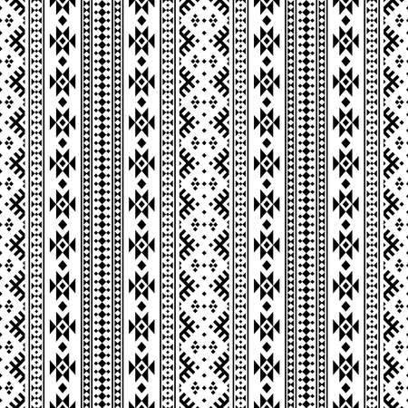 Traditional seamless ethnic pattern tribal style and white black color 向量圖像