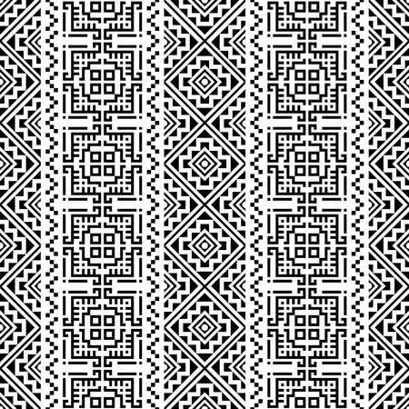 Persian traditional motif pattern in black white color design vector